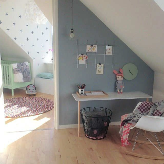 Modern colour palette found on El Blog Del Laura Yerpes | 10 Gorgeous Girls Rooms Pt 3 ~ Tinyme Blog