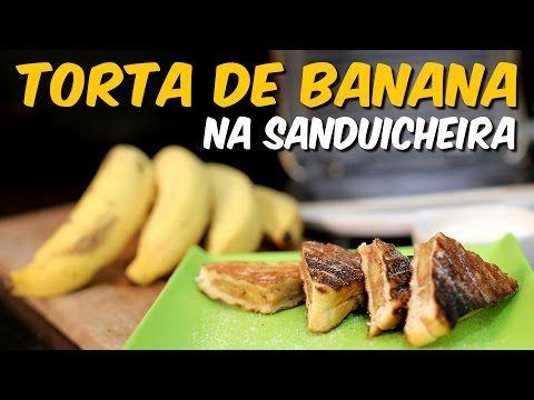 Torta de banana na sanduicheira - YouTube
