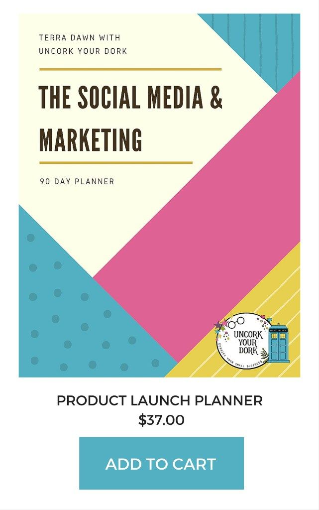 The social media and marketing workbook lays out the exact steps, over a 90 day time period, that it will take to fully launch a new product or event!