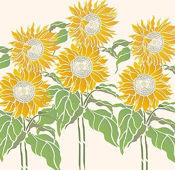 Best 25+ Sunflower stencil ideas on Pinterest   Drawing ...