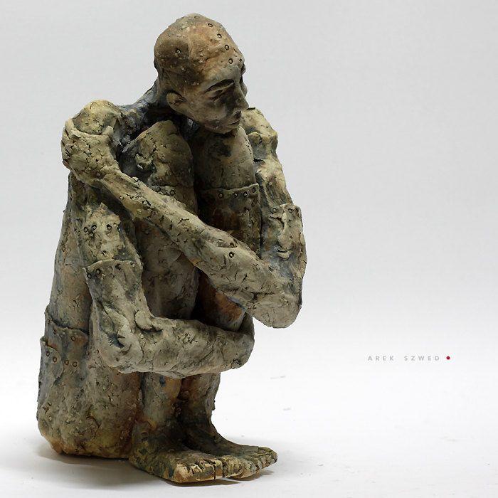 The T/Ceramic Sculpture/ Unique Ceramic Figurine by arekszwed on Etsy