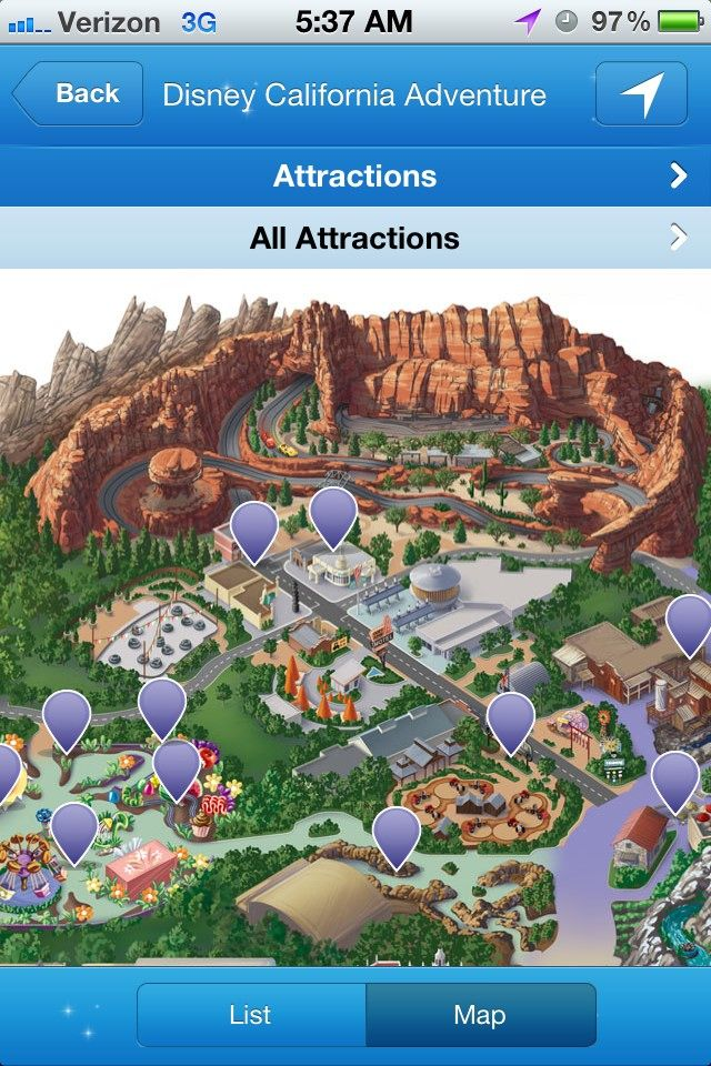 Cars Land now on the map in