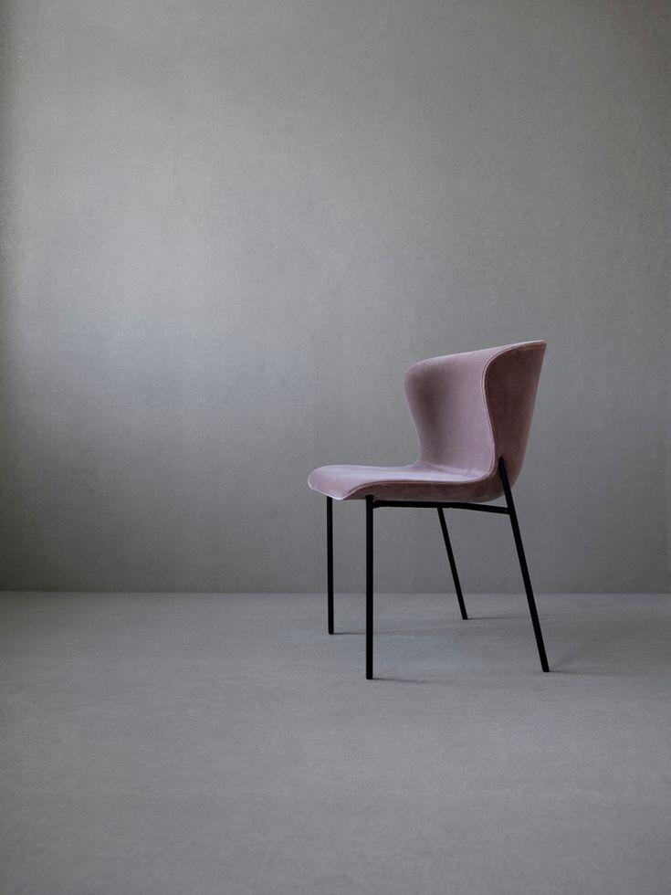 La Pipe Chair Velvet - Black Frame