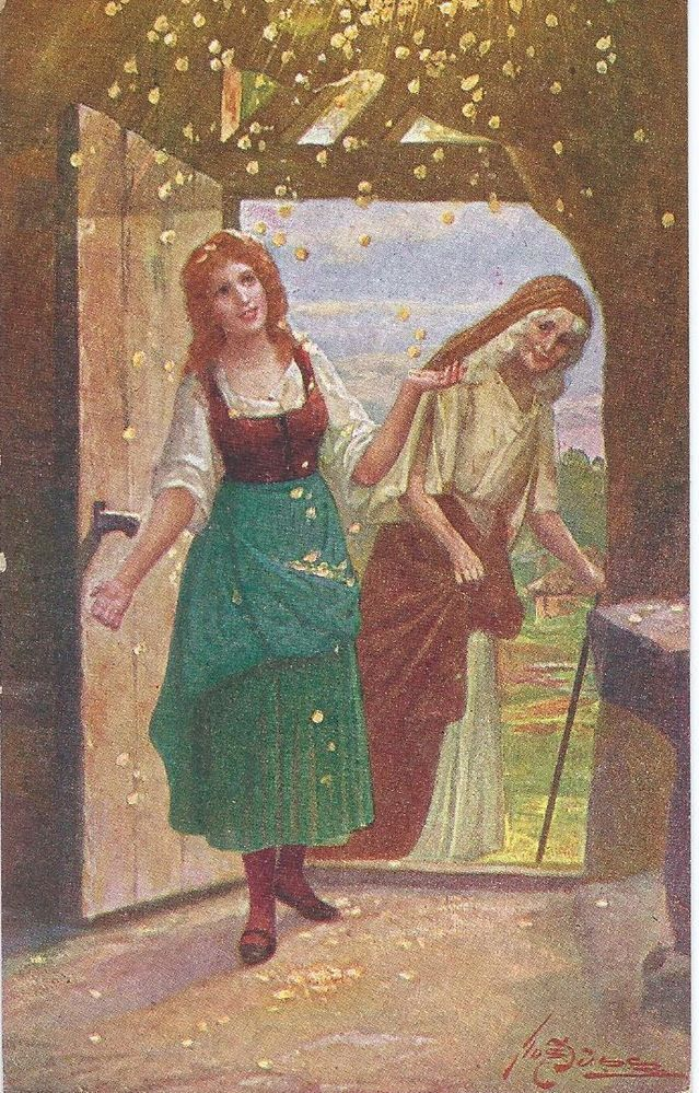 Josef Suss Fairy Tale Mother Holle | Сказки братьев Гримм ...
