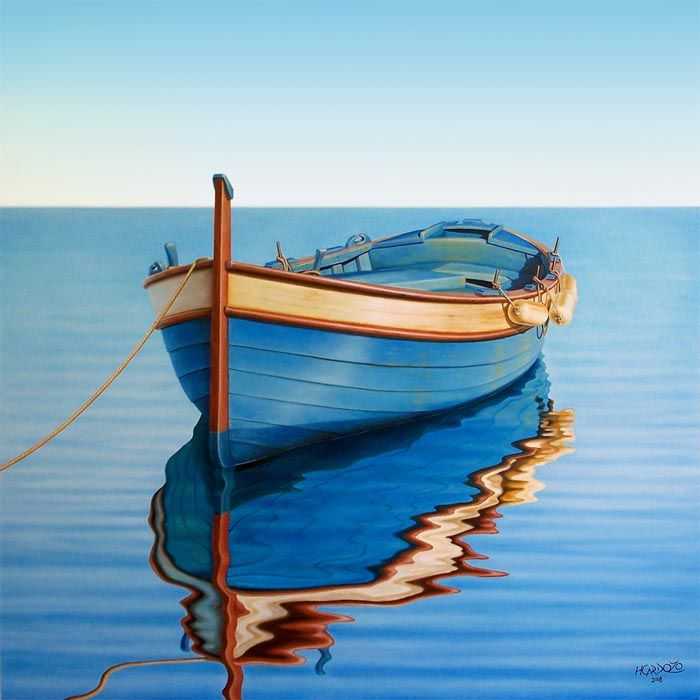 Waiting-for-The-Crew-original-gallery-artwork-<b>painting</b>-of-a-<b>boat</b>-on ...