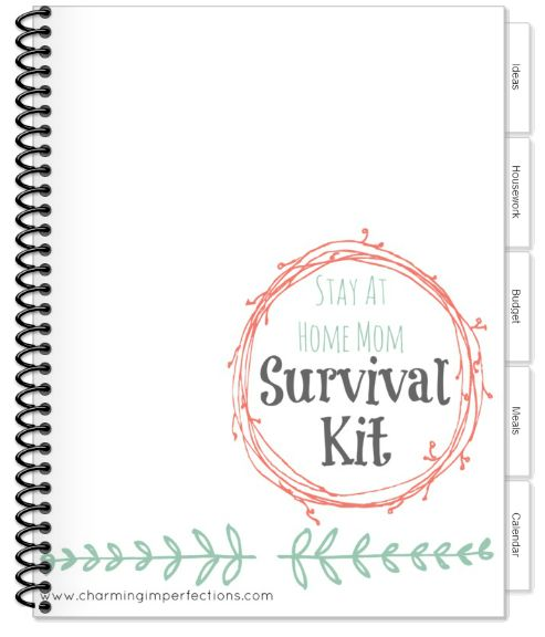 The Stay At Home Mom Survival Kit is all you need to organize your home all in one place! It's totally free and one of the best tools I've used to get my life in order! Download it today and enjoy the organized life!