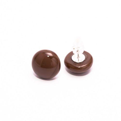 Csokibarna fülbevaló