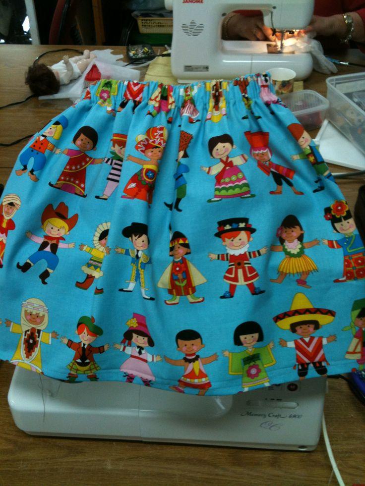 Children of the world elastic waist girls skirt