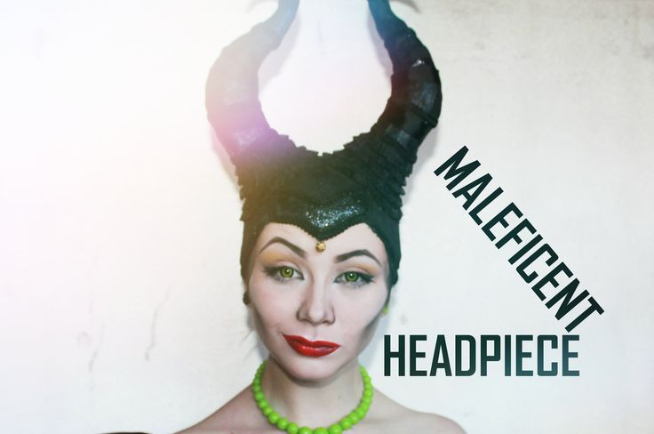 DIY MALEFICENT headpiece / Zloba = Evzuu.blogspot.cz Different Language but ADORABLE horns