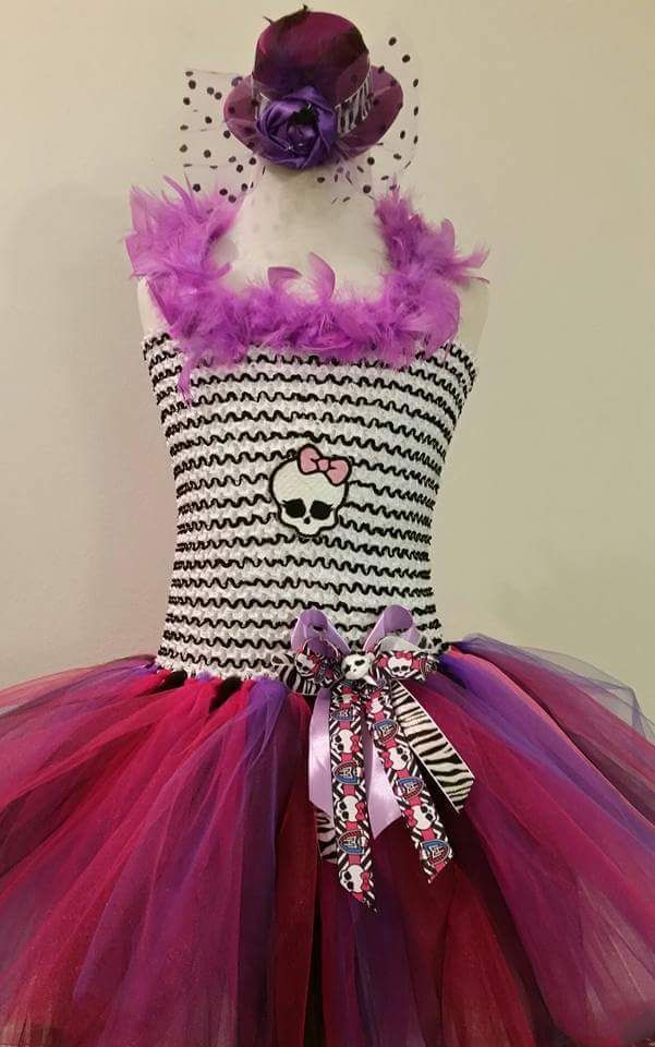 Monster High Tutu Dress with Hat size 4-10