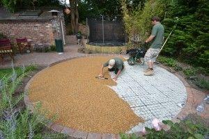 Laying resin bound gravel