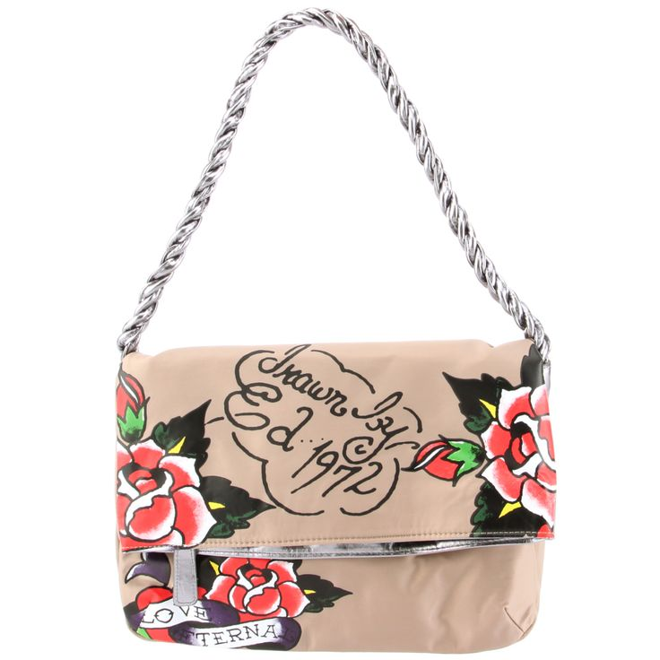 Ed Hardy  Amantha Shoulder Tote -Taupe