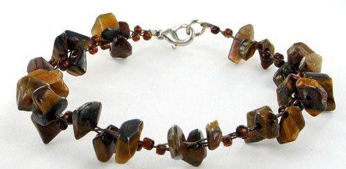 Tiger-Eye Gemstone /Brown Beads Jewelry Bracelet 7.5 Inches FlameReflection. $14.99. Stone Shape: Chips. Style: Gem Bracelets. Save 58%!
