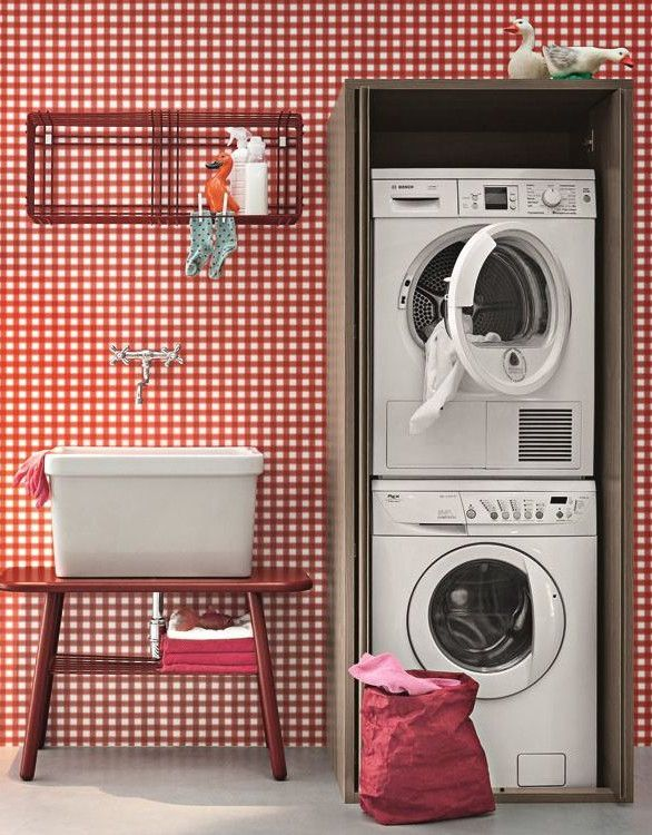 Sectional #laundry room cabinet for washing machine ACQUA E SAPONE by @birexsrl