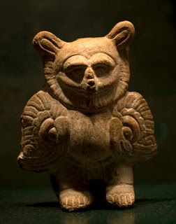 Owl that could represent the nahual. Maya Room. Museum of Anthropology (Photo: Chico Sánchez)