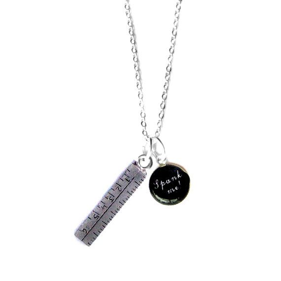 Naughty Girls Spank Me Saucy Ruler Charm Necklace by hoolala, $28.00