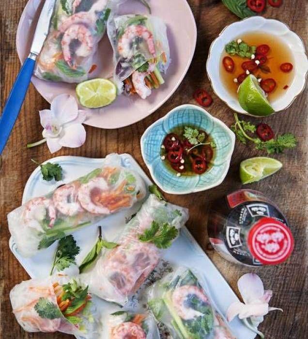 Asiatiska vårrullar med räkor | Mitt Kök