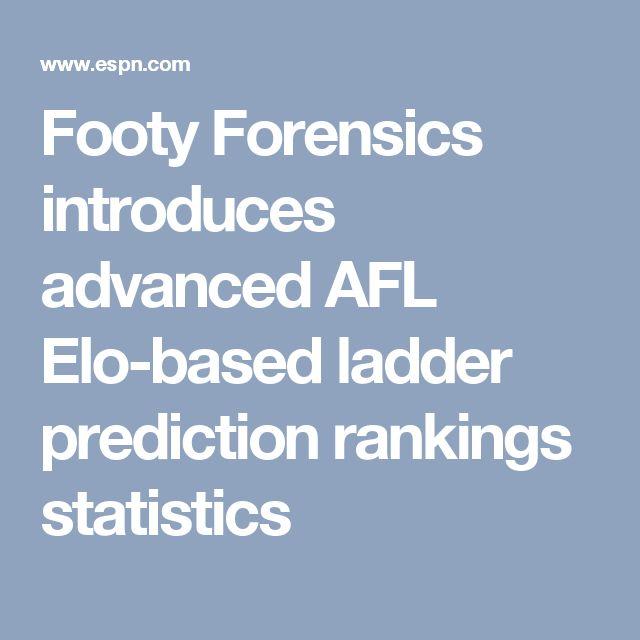 Footy Forensics introduces advanced AFL Elo-based ladder prediction rankings statistics