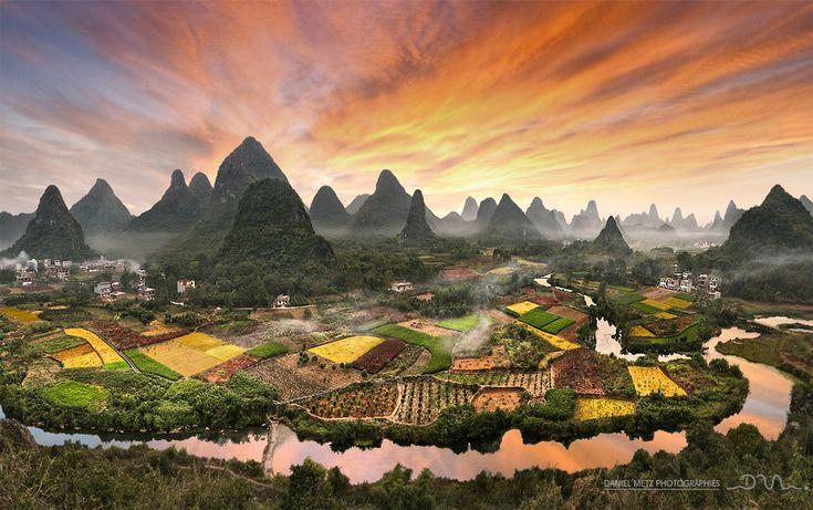 colors-of-zhouzhai-village,-china