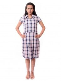 Online Shopping at Anbaggy of designer dress #Ghingham shirt dress only Rs. 1,450 @http://bit.ly/1tN7Dbo