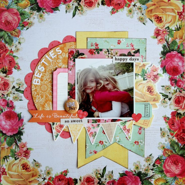 All About Scrapbooks -  Kaisercraft Tropical Punch - by Fiona Johnstone