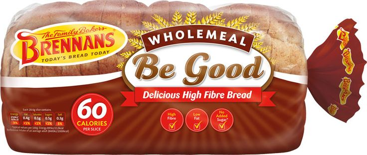 Brennans Be Good Lo Cal Wholemeal Bread - A delicious high fiber bread with only 60 calories per slice. Made using only the finest ingredients, it is baked with the care and expertise that you expect from Brennan's. So, if you're looking for a bread with fewer calories per slice, but don't want to compromise on taste, then Brennan's Be Good Wholemeal is the bread for you. Now available in USA $6.39
