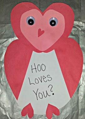Heart Owl Craft 1 Crafts And Worksheets For Preschool Toddler