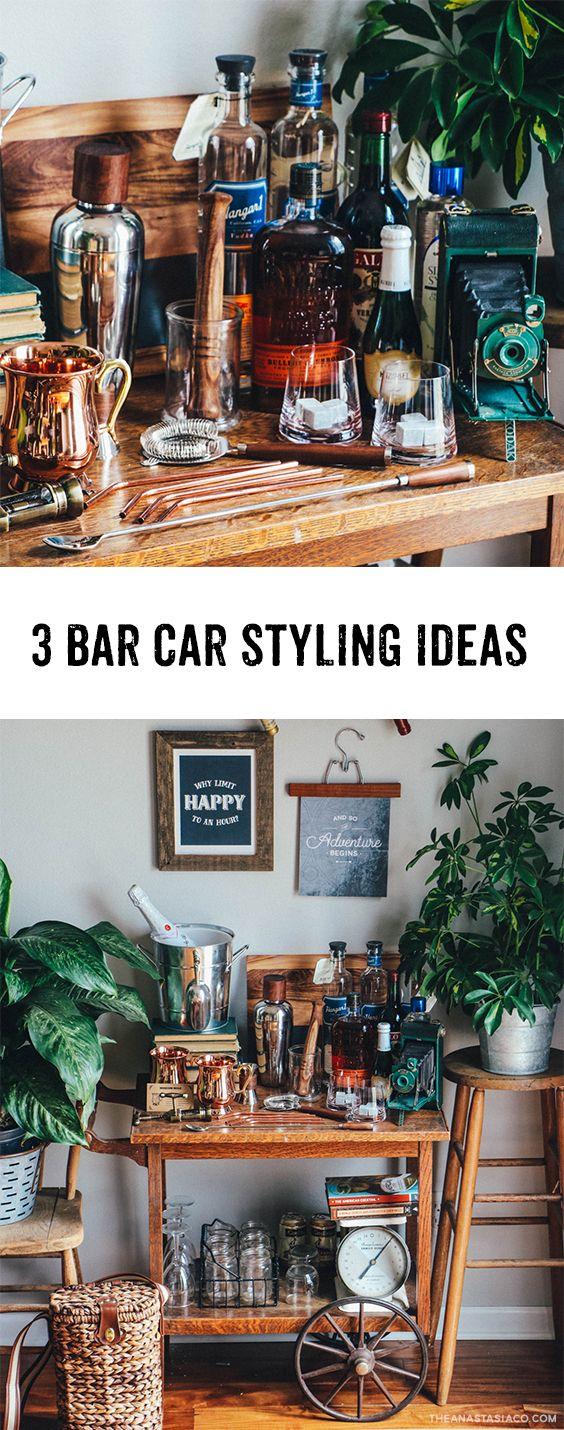 3 bar cart styling ideas a vintage bar cart reveal