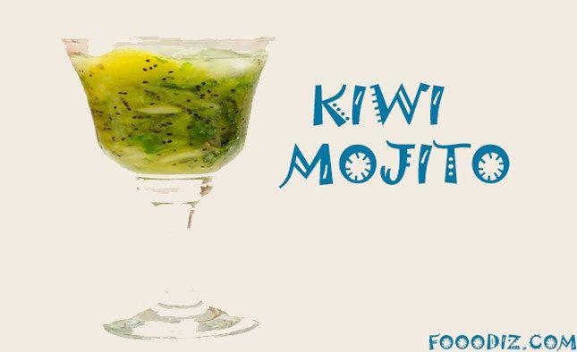 fooodiz,kiwi mojito moktail,moktail,fresh,kiwi,mint,lemon,moktails recipes