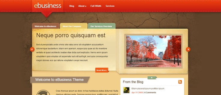 Elegant theme - ebusiness