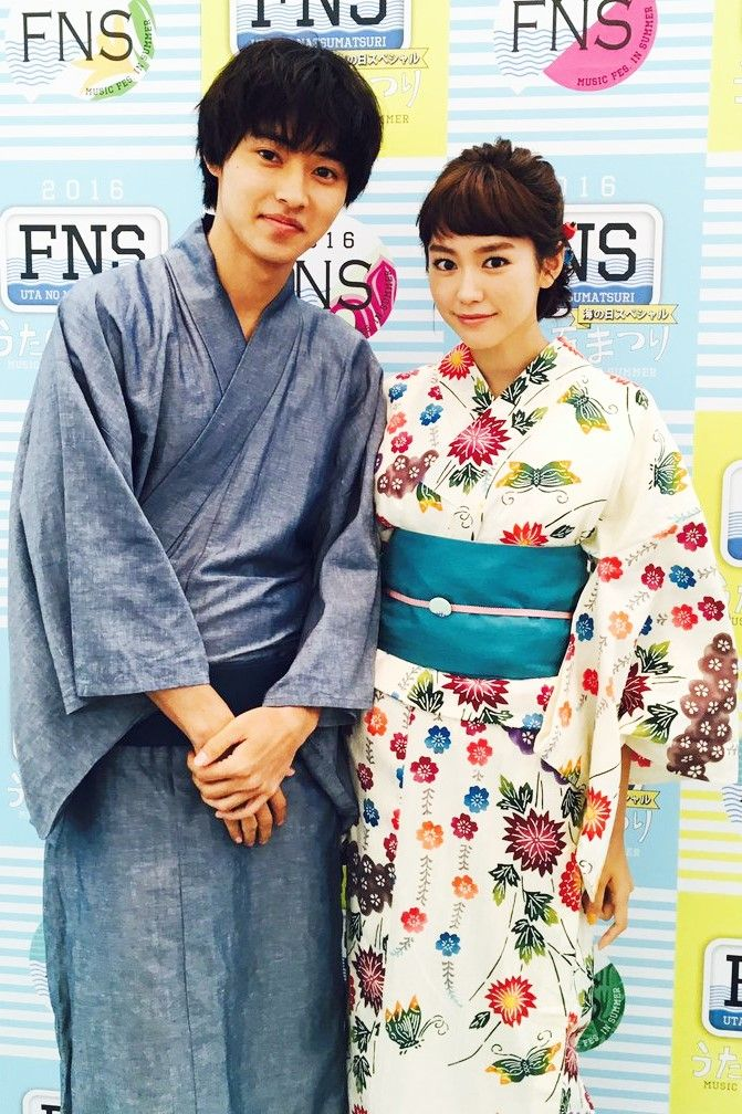 Kento Yamazaki x Mirei Kiritani, FNS summer fes. of songs, 07/18/2016