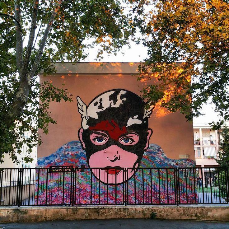 Omino71 - Italian Street Artist - Roma (IT) - 08/2015 - |\*/| #omino71 #streetart #italy