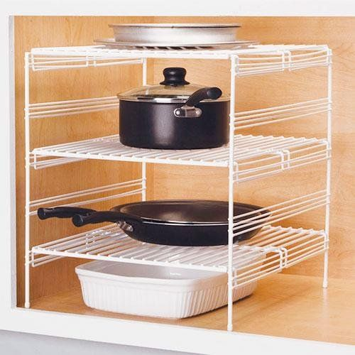 adjustable shelves for kitchen cabinets grayline 40918 3 adjustable base cabinet helper shelf 10482