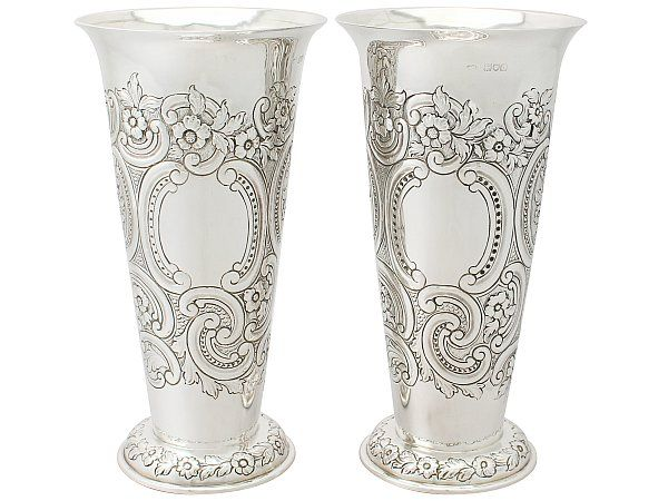 34 Best Silver Vases Images On Pinterest Silver Vases Antique