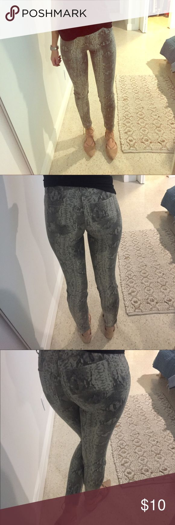 Python print skinny jeans Soft touch skinny jeggings in python print Pants Skinny