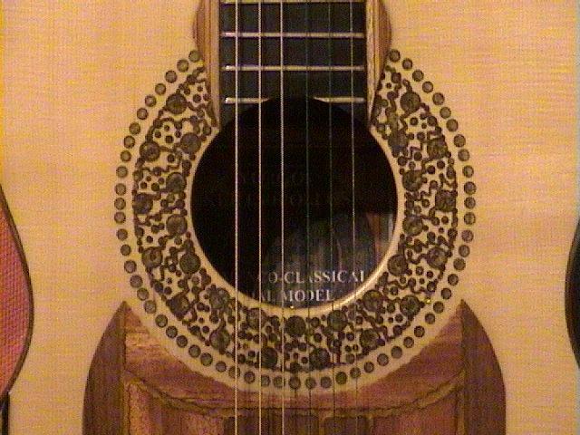 """Kertsopoulos Flamenco-Classical rosette detail 2012"""