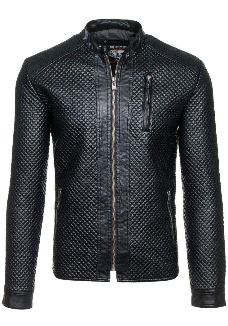 Pánská bunda B-BLESINGS 159B černá ČERNÁ | Pánská móda \ Pánské bundy \ Bundy z Ekokůže Casual Przecena 15% | Bolf - Internetový Obchod s Oblečením | Oděv | Oblečení | Kabáty | Bundy
