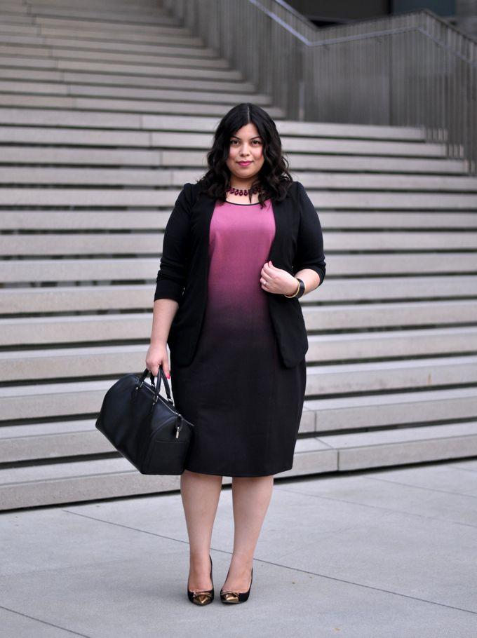 Jay Miranda in MYNT1792 - plus size ombre sheath dress