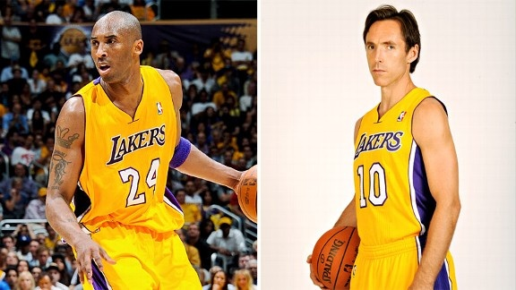 Kobe Bryant & Steve Nash in the same team: LA Lakers