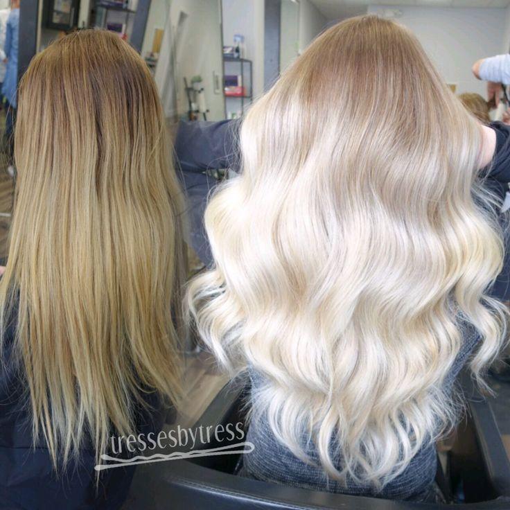 Platinum blonde balayage ombré