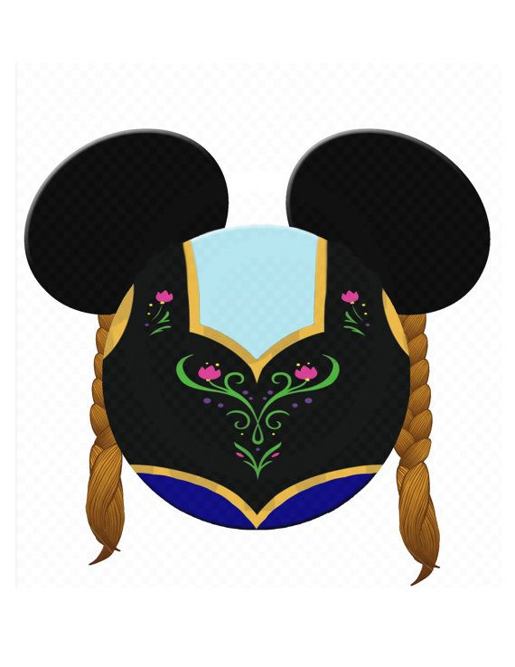 Instant Download  Anna Frozen Minnie Mouse Head by MamaMiaDesign