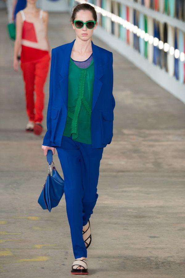 Мода весны 2017. Тренд сочетание синего и зеленого