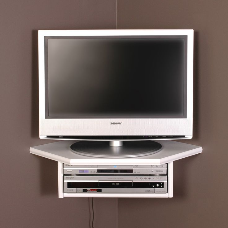 creative connectors corner floating wall shelf white corner tv mount with shelf