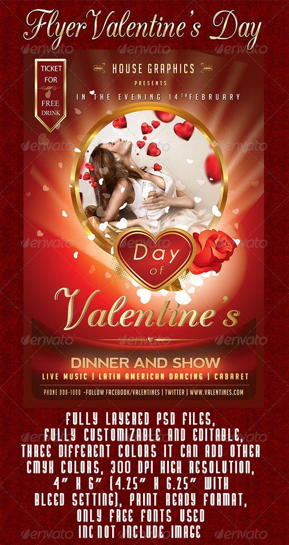 1081 Best Valentines Flyer Template Images On Pinterest Flyer