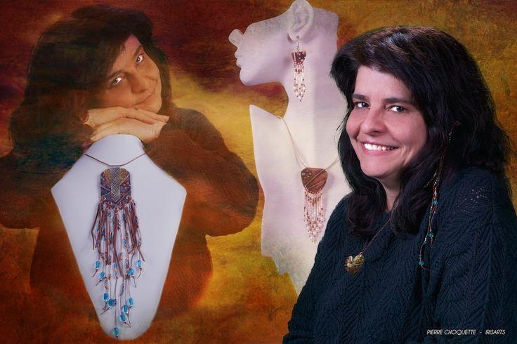 Elaine Marie Lebel est joaillière et possède sa propre entreprise : Creations Elaine Marie. Elle crée des bijoux pour hommes et femmes uniques et complexes qu'elle forge entièrement à la main. Elle travaille avec de multiples techniques et matériaux, dont le cuivre. Ses inspirations mixtes allient Art Nouveau, Art Déco, Bauhaus, Art Amérindien et Art Oriental.