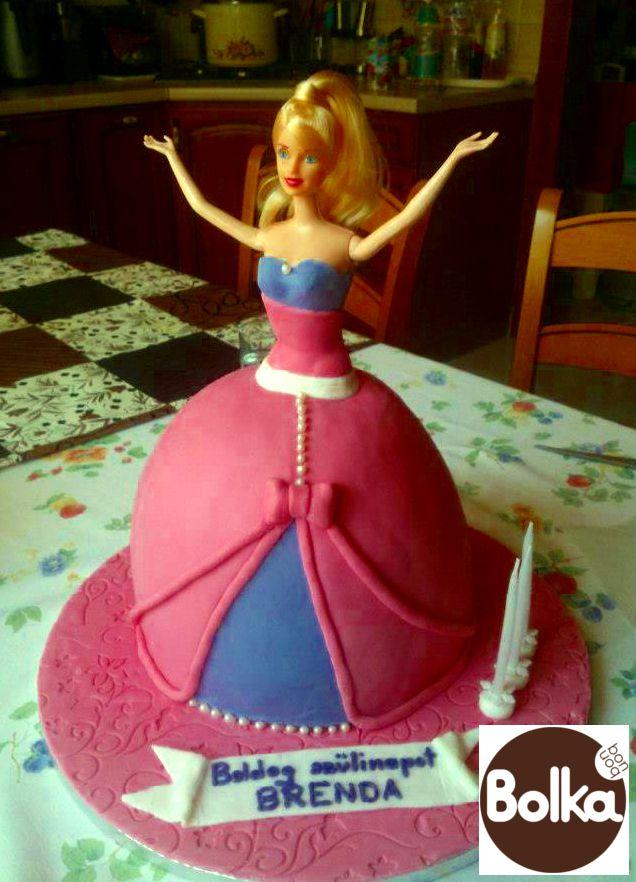 Decorated cake/dísztorta (Barbie)