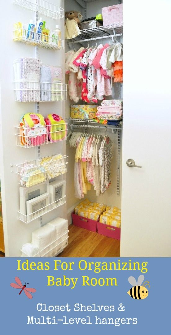 Baby Closet Organizer Ideas. This is great because it utilizes the backdoor or the closet! Learn more .. #ideasbabyroom #babycloset