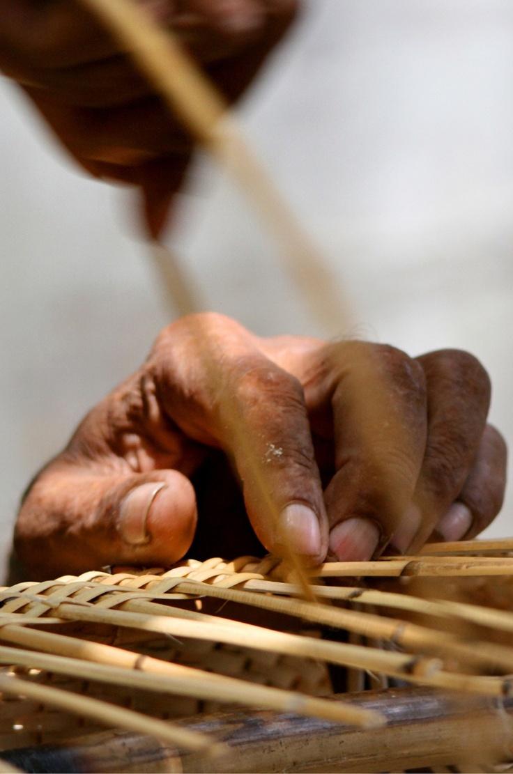 Hena Tayeb Photograph Wicker Furniture Weaver's Hand taken in Karachi, Pakistan  Etsy.