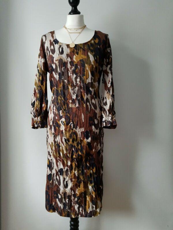 East Brown Black Crumpled Animal Print Sheath Pencil Dress Uk 8 10 In 2020 Sheath Pencil Dress Pencil Dress Pattern Dresses