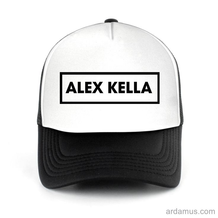 Alex Kella Trucker Hat for men or women. Available color black, red, pink, green. Shop more at ARDAMUS.COM #djtruckerhat #djcap #djsnapback #djhat
